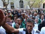 manifestazione dipendenti Alitalia
