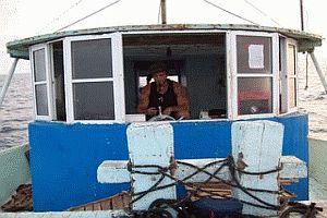Vik sulla barca da pesca