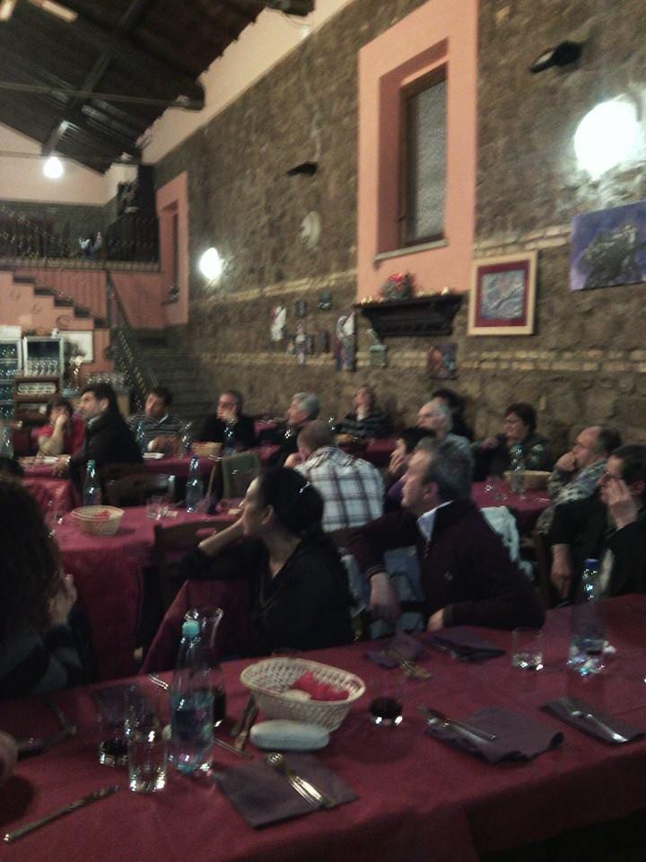 Cena Per la Sinistra di Marino, parte della platea