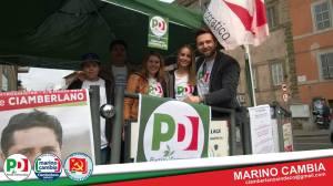 Iniziativa elettorale: Serena Santurelli con Emiliano Fabi