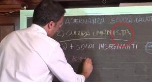 Renzi, l'ignorante che parla di scuola