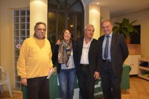 Presentazione corsi Unitre alla ludeca di Castel Gandolfo, lunedì 28 ottobre. Da sinistra: Maurizio Aversa, Miriam Tedeschi, Marcello Zega, Ferdnando Onorati