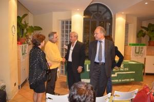 A sinistra il sindaco di Castel Gandolfo, Milvia Monachesi, dopo il suo saluto ad Unitre
