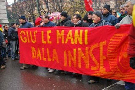 operai innse in lotta-Milano