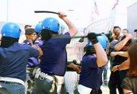 polizia picchia lavoratori Fiat a Pomigliano