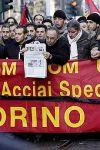 Manifestazione contro le morti bianche (Thyssen Torino)