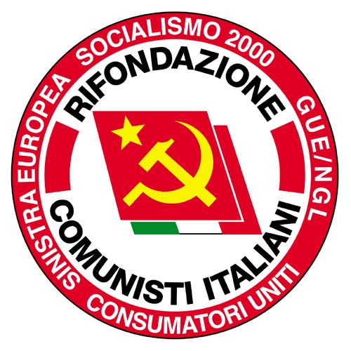 Il simbolo comunista presente sulla lista europea in Italia