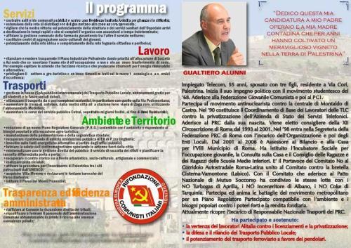 I contenuti programmatici della proposta per Palestrina