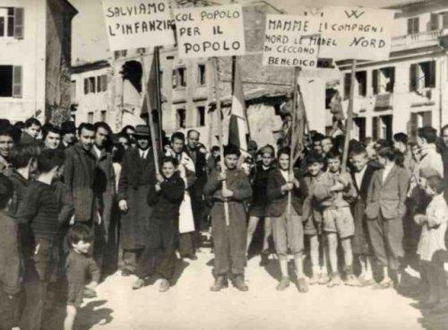 Ceccano, manifestazione dopoguerra