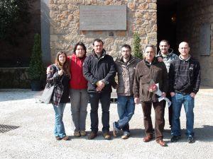 Maurizio Aversa unitamente ad una delegazione della Sinistra marinese in visita alle Fosse Ardeatine nell'anniversario dell'eccidio