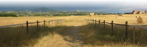 Veduta della campagna romana, a Marino