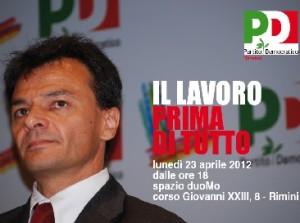 Stefano Fassina, responsabile economia e lavoro del Pd