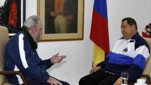 Hugo Chavez a Cuba