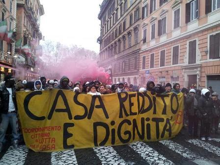 Foto del corteo di oggi. Roma non si vende.(Paese Sera)