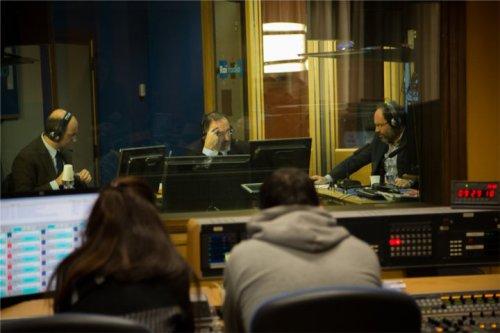 Antonio Ingroia, candidato presidente del Consiglio per Rivoluzione Civile, negli studi di RadioAnch'io