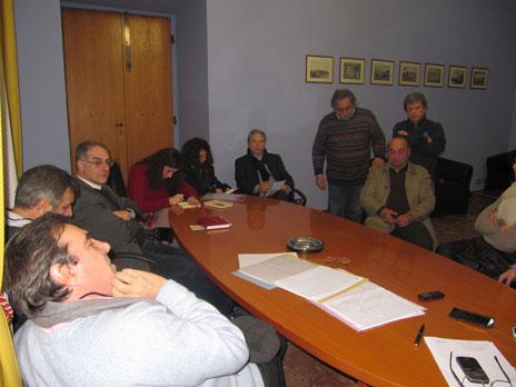 Incontro comune di Marino con Commissario Asl Roma H Caludio Mucciaccio. Da sinistra: Mucciaccio, Bartoloni, Onorati, Paolini, Caucci, Tammaro, Aversa, Mestici, Iozzi