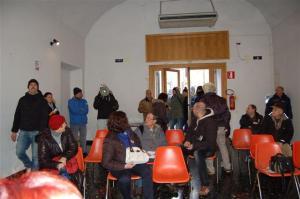 alcune foto dell'incursione di casapound che aggredisce verbalmente Sandro Ruotolo