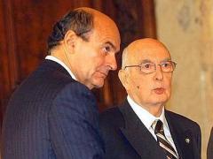 Pierluigi Bersani e Giorgio Napolitano