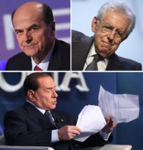 Bersani, Monti, Berlusconi, tra i protagonisti pro-acquisto degli F35
