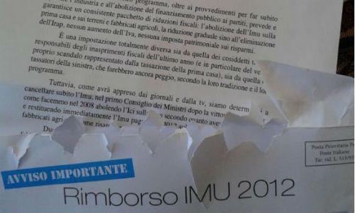 La falsa lettera ideata spedita e pubblicizzata da Silvio Berlusconi