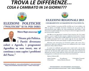 Confronto tra i due manifesti recenti di Azione Cittadina-Marino