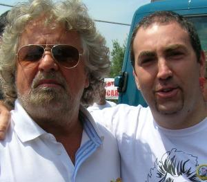 Emiliano Bombardieri, M5S Albano con Beppe Grillo