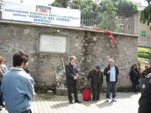 Nilo Rizzo, presidente dell'anpi di marino (al centro) tra Onorati e Aversa
