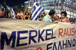 manifestazione anti Merkel
