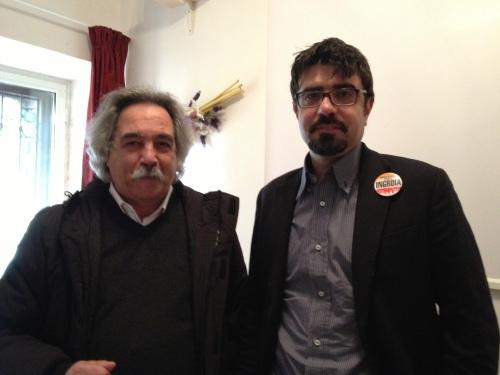 Fabio Nobile, in conferenza stampa a Marino con Maurizio Aversa