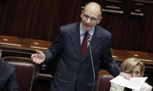 Enrico Letta alla Camera per la Fiducia