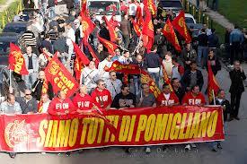Manifstazione operai Pomigliano