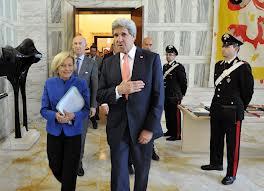Emma Bonino e John Kerry, responsabili esteri di Italia ed Usa