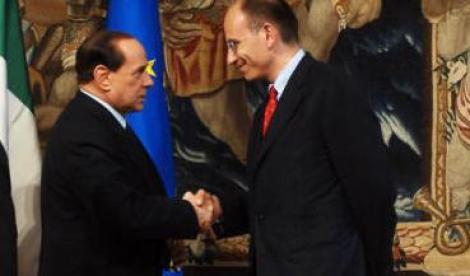 Enrico Letta (PD) e Silvio Berlusconi  (PDL)