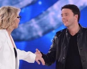 Matteo Renzi, ospite ad Amici