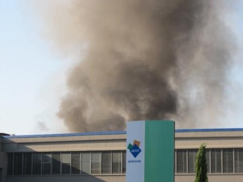 Incendio Castellaccio ex Snia sulla Casilina, oggi impianto Acea