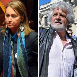 La Senatrice Gambaro e Beppe Grillo, ormai disuniti