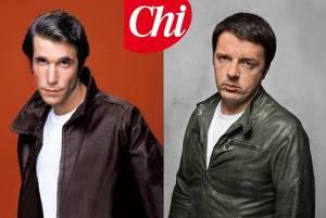 """Matteo Renzi, rappresentato da Chi come """"simile"""" a Fonzie"""