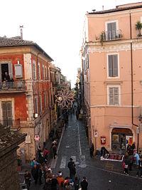Marino centro: via Roma
