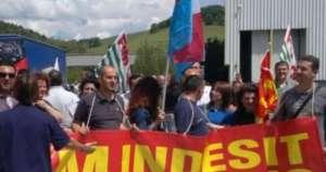 Protesta lavoratori Indesit