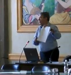 Adolfo Tammaro, consigliere comunale del Movimento per il cambiamento