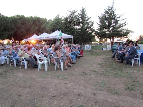 Cava dei Selci (Marino), Parco della Pace. Festa Pd durante iniziativa con tutto il centrosinistra