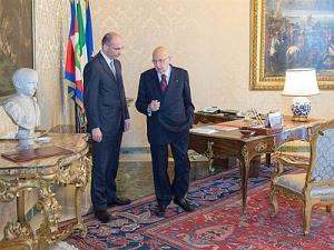 Enrico Letta a colloquio col capo dello Stato, Girogio Napolitano, prima del durissimo incontro in CDM il 27 settembre