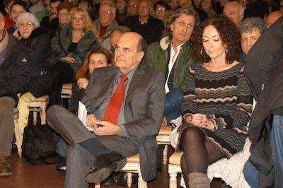 Manifestazione a Marino: Bersani e Franca Silvani