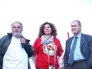 Danilo Marra sul palco con Barbara Tamanti e Paolo Ferrero