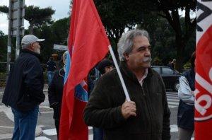 maurizio aversa, segretario del Pdci Marino al Corteo di Albano