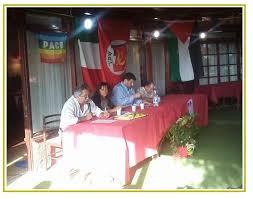 CONGRESSO PDCI MARINO 2014. Maurizio Aversa, Alessandra Trabalza, Ugo Moro e Giovannino Sanna presiedono.