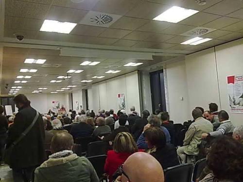 Parziale dell'assemblea nazionale per la Ricostruzione del Partito Comunista del 20 dic a Roma
