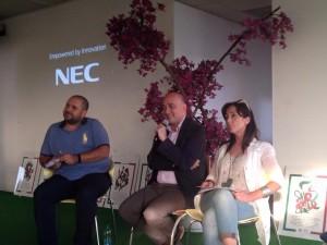 (da sinistra) Simone Lupi, vicecapogruppo PD Regione Lazio; Daniele Leodori, Presidente Consiglio regionale Lazio, PD; Franca Silvani, segretaria PD Marino