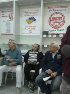Salvatore Tedone, Stefano Enderle e Nicola Marini, un incontro elettorale