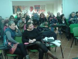 Federica Pezzi e Alessandra Zeppieri, ad una assemblea comunista
